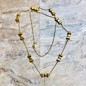 Kate Spade Gold Take A Bow Scatter Long Necklace